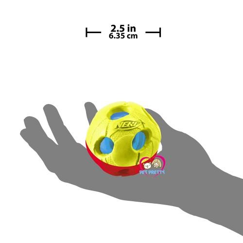 ของเล่นสุนัข Nerfdog  SMALL 2-Color LED Bash Ball มีไฟ  2.5นิ้ว