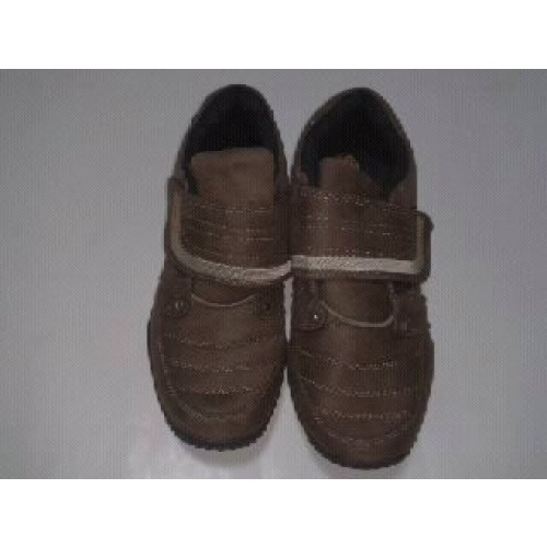 BAOJI รองเท้าผ้าใบหนังกลับ แบบเทป สีน้ำตาล