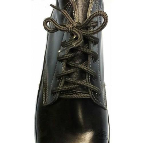 รองเท้าหัวเหล็ก หนัง ผูกเชือก สีดำ ผู้ชาย หัวกลม