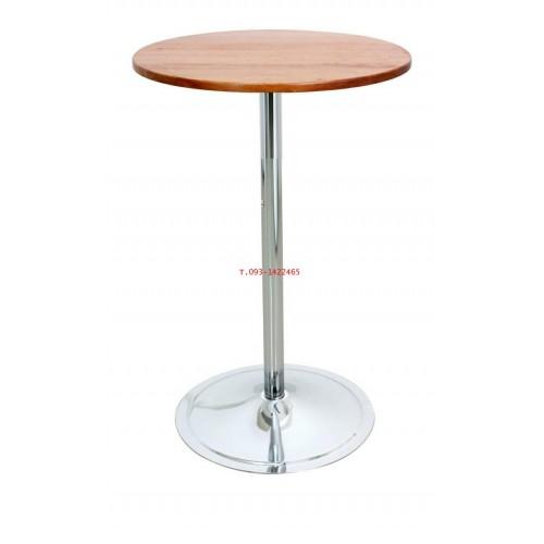โต๊ะคาเฟ่กลม หน้าโฟเมก้าขาว  (เหล็กเสา 2นิ้ว) kkw2-6