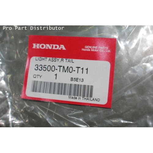ไฟท้าย ข้างขวา รถยนต์ ฮอนด้า ซิตี้ RH HONDA CITY 2012 อะไหล่แท้ ฮอนด้า (รหัสอะไหล่ 33500-TM0-T11)