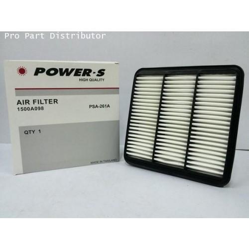 ไส้กรองอากาศ POWER-S สำหรับ มิตซูบิชิ MITSUBISHI TRITON (1500A098T) อะไหล่แท้ รถยนต์(รหัสPSA-261A-S)