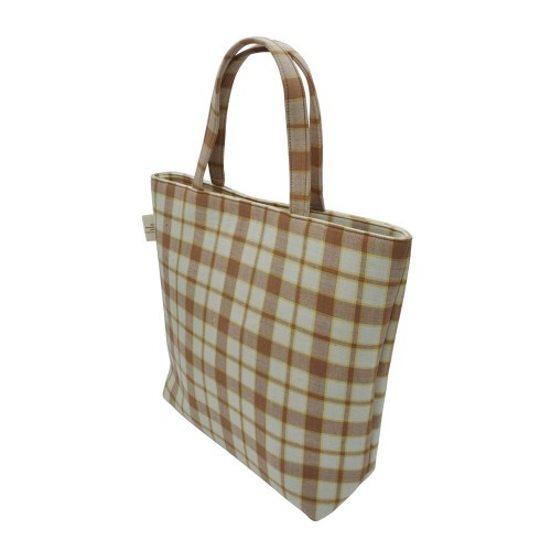 กระเป๋าบาสเกต (ทรงสูง) สีน้ำตาล จ.อำนาจเจริญ