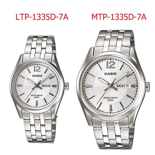 นาฬิกา Casio เซ็ทคู่ ชาย-หญิง MTP-1335D-7A คู่กับ LTP-1335D-7A