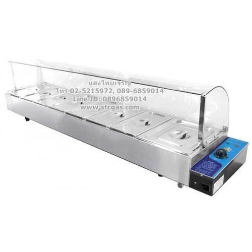 ตู้โชว์อาหาร พร้อมถาดอุ่นร้อน 8 ถาด ยี่ห้อนาโนเทค รุ่น NT-HBM-169
