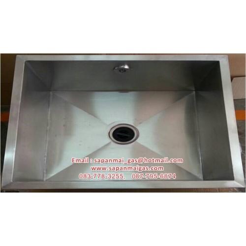 ซิ้งค์ อ่างล้างจานสแตนเลส แบบฝังเคาน์เตอร์ ลึก 30 ซม. (สั่งทำ)