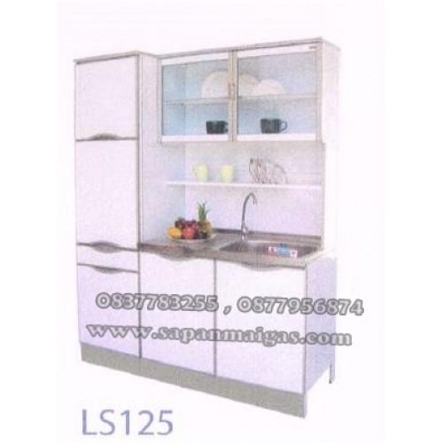 ตู้ครัวอ่าง1หลุม ทรงสูง ขนาด 1.50เมตร  ประตูบานเรียบ รุ่น LS125
