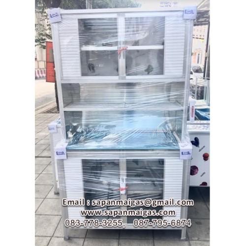 ตู้ครัวพร้อมซิ้งค์ล้างจาน 1 หลุมที่พัก 1เมตร ตรา Lion รุ่นใหม่