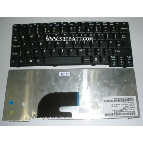Keyboard Notebook สำหรับรุ่น Acer Aspire ONE A150 (AC-07) คีย์บอร์ดโน๊ตบุ๊ก แถมสติ๊กเกอร์
