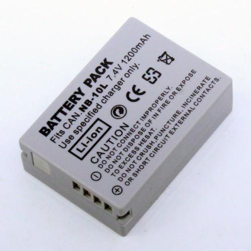 แบตเตอรี่ สำหรับกล้องดิจิตอล Canon รหัส NB-10L+ ความจุ 1200mAh (Battery Camera)