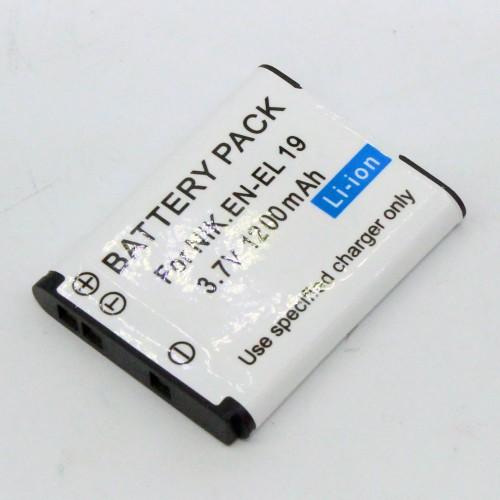 แบตเตอรี่ สำหรับกล้อง Nikon รหัสแบตเตอรี่ EN-EL19+ ความจุ 1200mAh (Battery Camera)