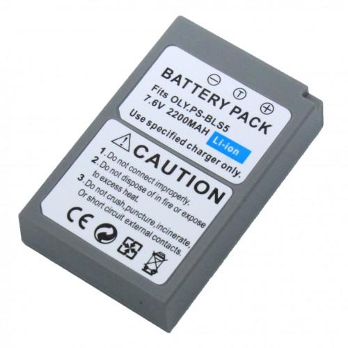 แบตเตอรี่สำหรับกล้อง Olympus รหัสแบตเตอรี่ BLS5+ ความจุ 2200mAh  (Battery Camera)