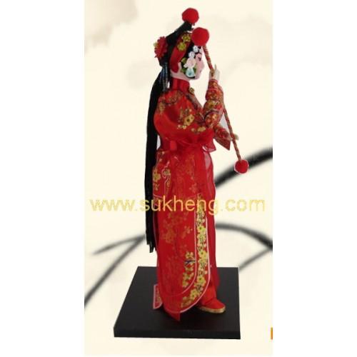 ตุ๊กตางิ้วชุดผ้าไหม  หยางเป่ยเฟิง สาวใช้ตระกูลหยาง  ขนาด 12 นิ้ว