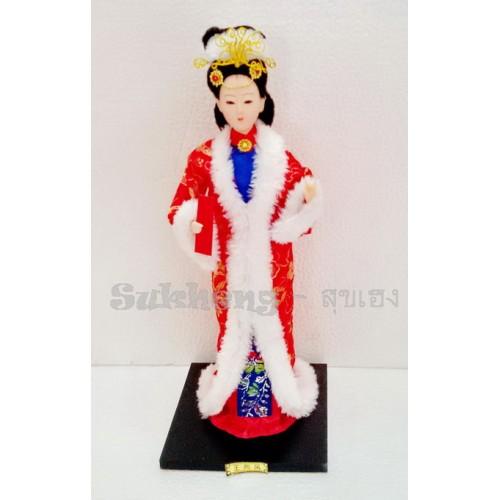ตุ๊กตางิ้วชุดผ้าไหม สาวงามหวางเจาจิน ขนาด 12 นิ้ว