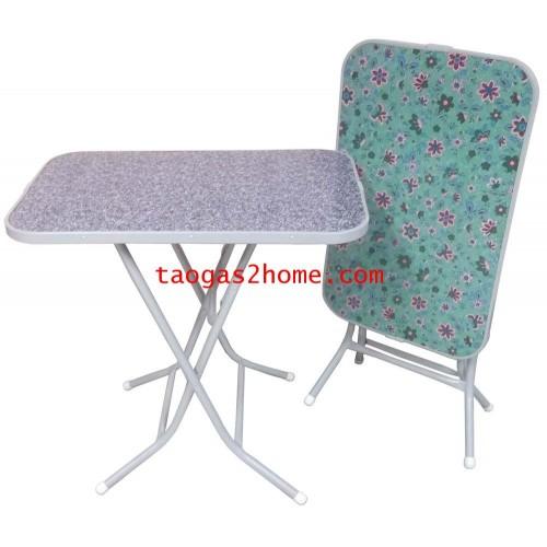 *โต๊ะไม้พับขอบโค้ง18*30