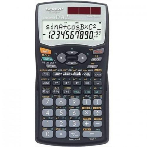 ครื่องคิดเลขวิทยาศาสตร์ Sharp  EL-506W-BK