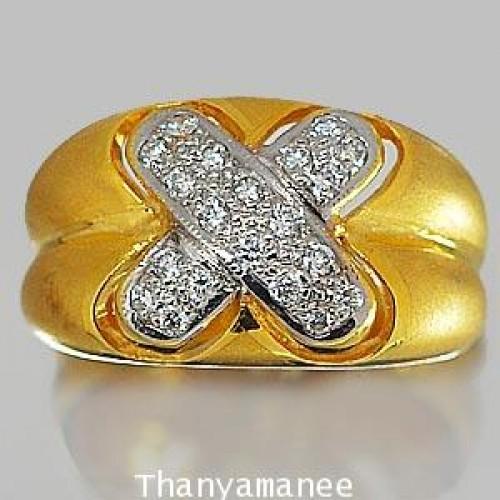 แหวนทองคำเพชรเบลเยียมแท้ 0.27 กะรัต