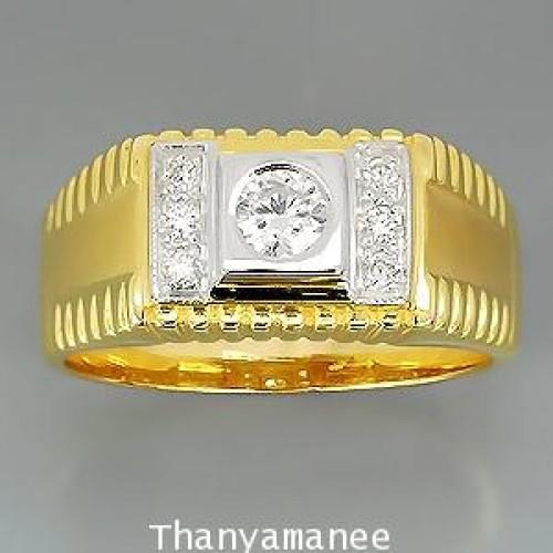 แหวนทองคำแท้ 90ประดับเพชรเบลเยี่ยมแท้ 0.29 กะรัตสวยงาม ทันสมัย ดีไซร์สวย เรียบหรูมากๆ สินค้ามีใบรับป