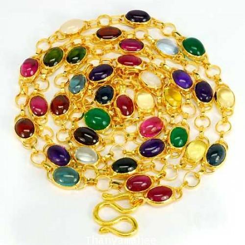 สร้อยคอสลับสี  33.2 กะรัต ตัวเรือนทองแท้ 90 สินค้ามีใบรับประกันจากทางร้านทุกชิ้น