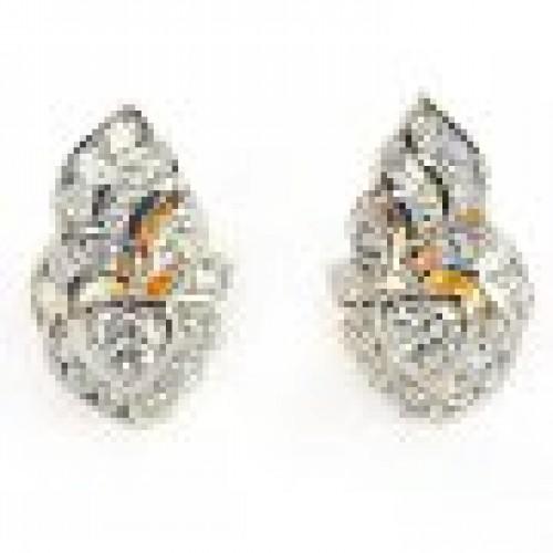ต่างหูทองคำ 90 เพชรเบลเยียมแท้ 1.42 กะรัต สินค้ามีใบรับประกันจากทางร้าน