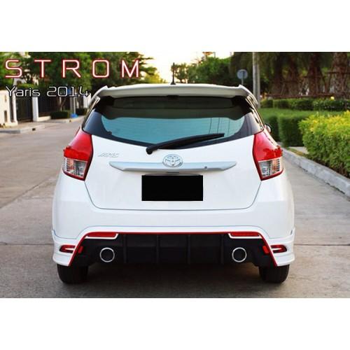 ชุดแต่งยาริส Toyota Yaris STROM 2013 2014 2015 2016 สเกิร์ตรอบคัน